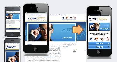 adapatare site pentru telefoanele mobile
