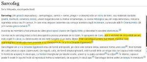 articol cu informatii erori in wikipedia