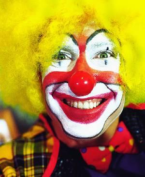 clown fericit