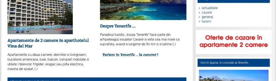 captura ecran website promovare tenerife