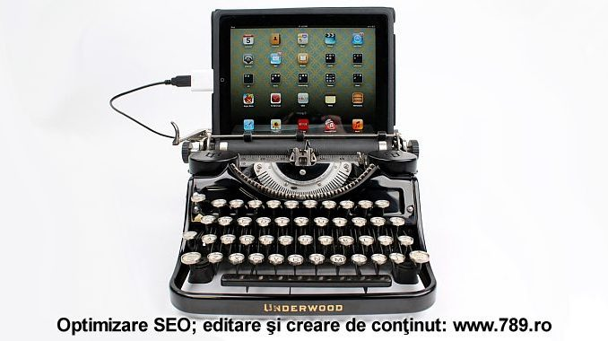 masina de scris SEO