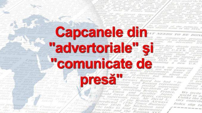 link din advertoriale si comunicate de presa