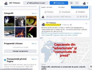 Optimizare SEO Timisoara facebook