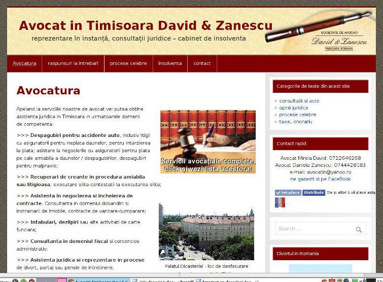 design web petru site avocat