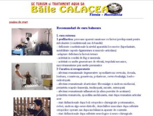 SEO si web design statiune balneara