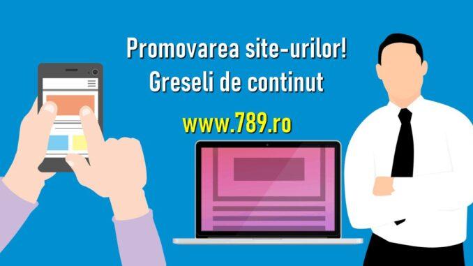 promovare site-uri si greseli de evitat