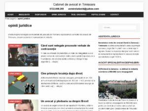 SEO Timisoara site de avocat